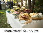 antipasto and vegetables at...   Shutterstock . vector #563779795