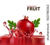 fresh pomegranate fruit  | Shutterstock .eps vector #563780362