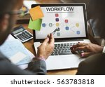 progress summary workflow... | Shutterstock . vector #563783818
