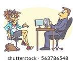 cartoon illustration with...   Shutterstock .eps vector #563786548
