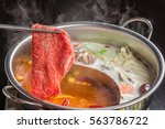 chinese dishes prepared with... | Shutterstock . vector #563786722