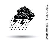 thunderstorm icon. white... | Shutterstock .eps vector #563788012