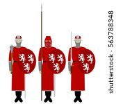 medieval knights  weapons ...   Shutterstock .eps vector #563788348