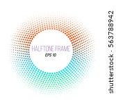 Color Halftone Frame. Gradient...