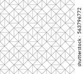 seamless monochrome square... | Shutterstock .eps vector #563796772