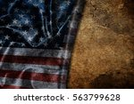 usa flag vintage background | Shutterstock . vector #563799628