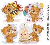 set of vector clip art... | Shutterstock .eps vector #563801728