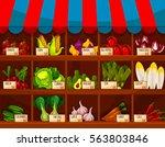 Vegetable Shop Stand Or Market...