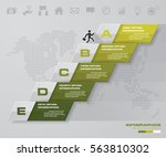abstract business chart. 5... | Shutterstock .eps vector #563810302