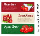 tomato sauce design set of... | Shutterstock .eps vector #563818765