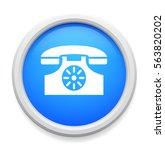 antique telephone button   Shutterstock .eps vector #563820202