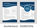 abstract vector layout...   Shutterstock .eps vector #563825296
