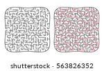 vector labyrinth 67. maze  ... | Shutterstock .eps vector #563826352