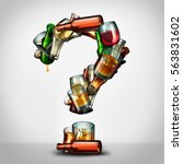 alcohol questions and... | Shutterstock . vector #563831602