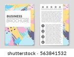 abstract vector layout... | Shutterstock .eps vector #563841532