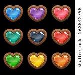 cartoon vector heart shaped...