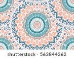 hand drawn mandala seamless... | Shutterstock .eps vector #563844262