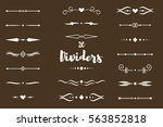 collection of vector dividers... | Shutterstock .eps vector #563852818