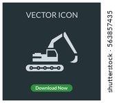 excavator vector icon | Shutterstock .eps vector #563857435