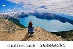 Woman Doing Yoga Above Alpine...