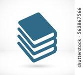 book vector icon | Shutterstock .eps vector #563867566