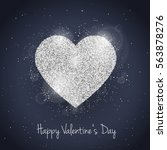 vector happy valentine's day... | Shutterstock .eps vector #563878276