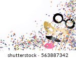 carnival colorful background | Shutterstock . vector #563887342