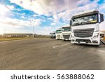rest area for heavy trucks | Shutterstock . vector #563888062