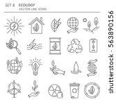big set of symbols of ecology... | Shutterstock .eps vector #563890156