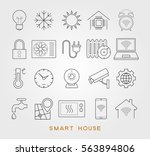 set smart house symbols. vector ... | Shutterstock .eps vector #563894806
