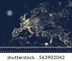 vector illustration of europe... | Shutterstock .eps vector #563902042