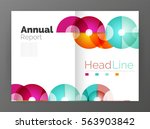 abstract circles  annual report ... | Shutterstock .eps vector #563903842