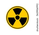 radiation danger sign. caution... | Shutterstock .eps vector #563906992