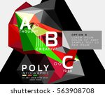 vector abstract low poly...