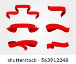 ribbon banners set.vector... | Shutterstock .eps vector #563912248