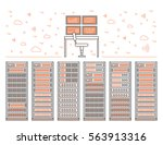vector high tech internet data... | Shutterstock .eps vector #563913316