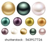 large colored jewelry pearl... | Shutterstock .eps vector #563917726