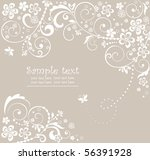wedding card | Shutterstock .eps vector #56391928