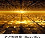 Golden Fractal Background  ...