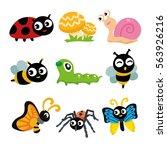 bugs vector cartoon character | Shutterstock .eps vector #563926216