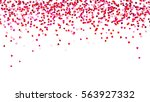 background with red falling... | Shutterstock .eps vector #563927332