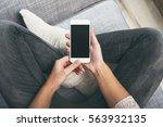 smartphone mockup | Shutterstock . vector #563932135
