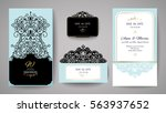 wedding invitation or greeting... | Shutterstock .eps vector #563937652