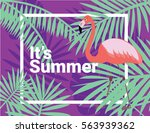it's summer sign with frame and ... | Shutterstock .eps vector #563939362