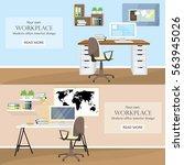 illustration of modern colorful ... | Shutterstock .eps vector #563945026