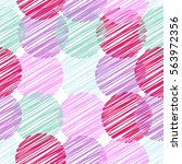 vector seamless pattern of... | Shutterstock .eps vector #563972356