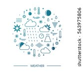 mega pack of weather icons with ...   Shutterstock .eps vector #563975806