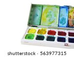 artists water colour paints... | Shutterstock . vector #563977315