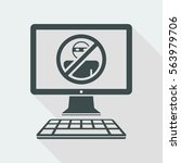pc protection   vector flat icon | Shutterstock .eps vector #563979706