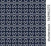 seamless nautical romantic rope ...   Shutterstock . vector #563981272